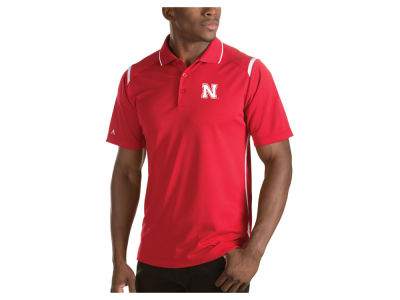 Nebraska Cornhuskers Antigua NCAA Men's Merit Polo Shirt