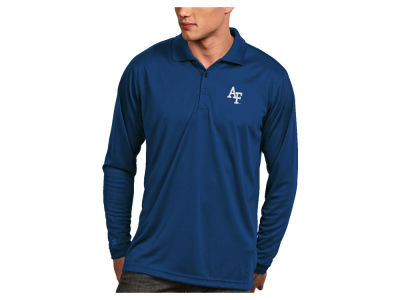 Air Force Falcons Antigua NCAA Men's Long Sleeve Exceed Polo