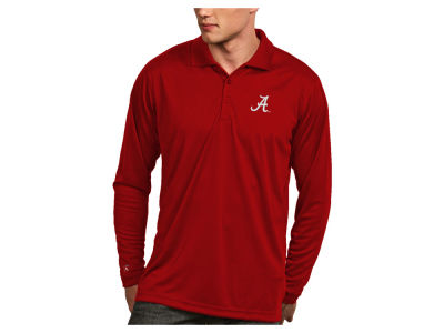 Alabama Crimson Tide Antigua NCAA Men's Long Sleeve Exceed Polo