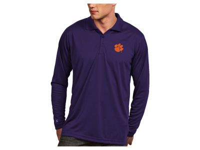 Clemson Tigers Antigua NCAA Men's Long Sleeve Exceed Polo
