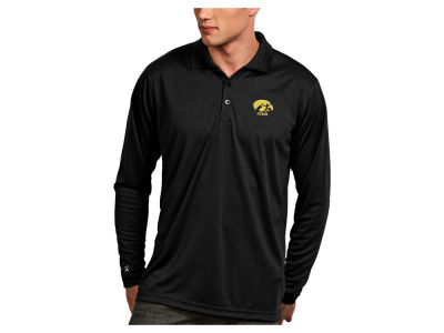 Iowa Hawkeyes Antigua NCAA Men's Long Sleeve Exceed Polo