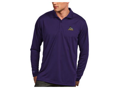 James Madison Dukes Antigua NCAA Men's Long Sleeve Exceed Polo