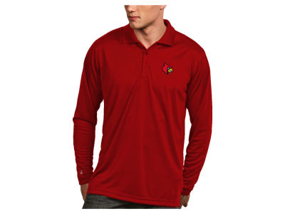 Louisville Cardinals Antigua NCAA Men's Long Sleeve Exceed Polo