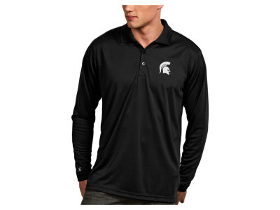 Michigan State Spartans Antigua NCAA Men's Long Sleeve Exceed Polo