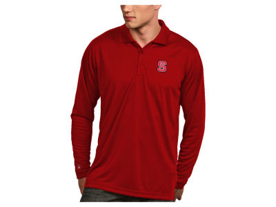 North Carolina State Wolfpack Antigua NCAA Men's Long Sleeve Exceed Polo