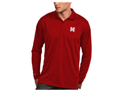 Nebraska Cornhuskers Antigua NCAA Men's Long Sleeve Exceed Polo