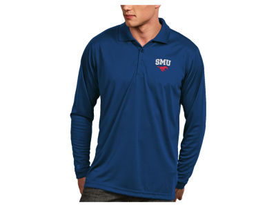 Southern Methodist Mustangs Antigua NCAA Men's Long Sleeve Exceed Polo