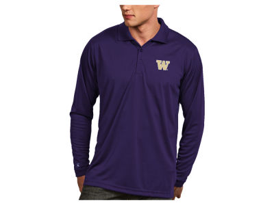 Washington Huskies Antigua NCAA Men's Long Sleeve Exceed Polo
