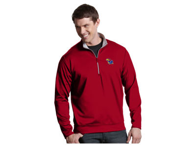 Kansas Jayhawks Antigua NCAA Men's  Leader 1/4 Zip Pullover