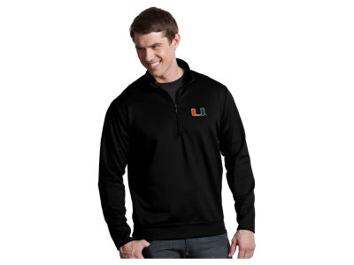 Miami Hurricanes Antigua NCAA Men's  Leader 1/4 Zip Pullover