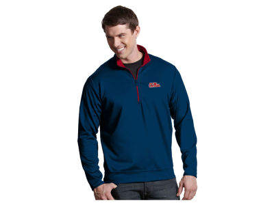 Ole Miss Rebels Antigua NCAA Men's  Leader 1/4 Zip Pullover