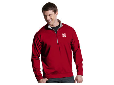 Nebraska Cornhuskers Antigua NCAA Men's  Leader 1/4 Zip Pullover