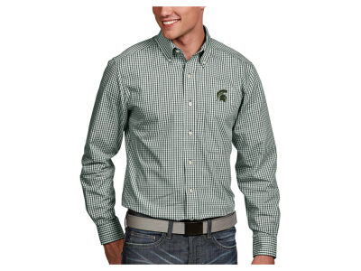 Michigan State Spartans Antigua NCAA Men's Associate Button Up Shirt