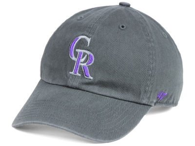 Colorado Rockies '47 MLB Kids Charcoal CLEAN UP Cap