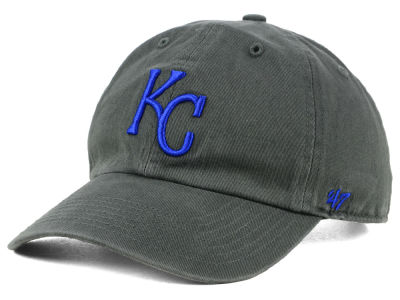 Kansas City Royals '47 MLB Kids Charcoal CLEAN UP Cap