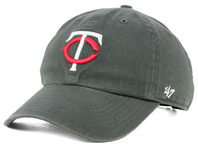Minnesota Twins '47 MLB Kids Charcoal CLEAN UP Cap