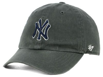 New York Yankees '47 MLB Kids Charcoal CLEAN UP Cap