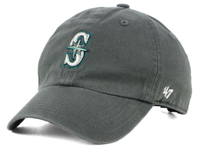 Seattle Mariners '47 MLB Kids Charcoal CLEAN UP Cap