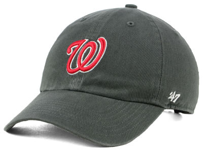 Washington Nationals '47 MLB Kids Charcoal CLEAN UP Cap