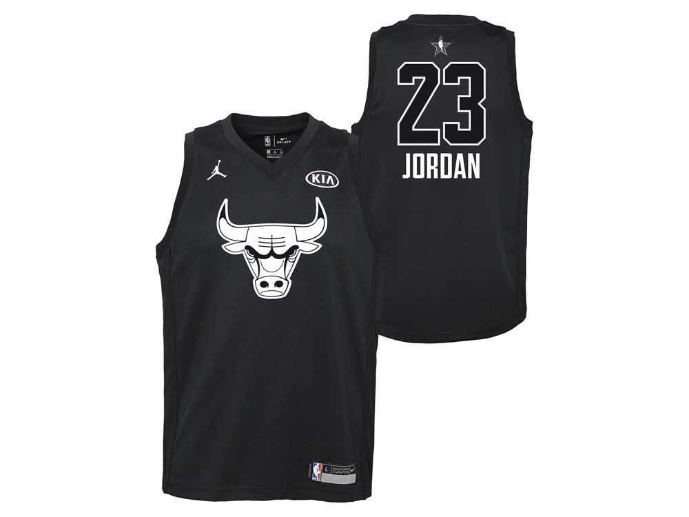 Chicago Bulls Michael Jordan Nike 2018 NBA Youth All-Star Swingman Jersey  bde57343f