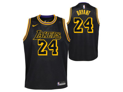 Los Angeles Lakers Kobe Bryant NBA Youth City Edition Swingman Jersey