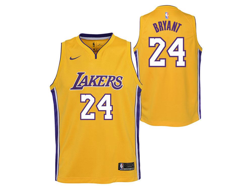 Los Angeles Lakers Kobe Bryant Nike NBA Youth Icon Swingman Jersey ... aa93b19415a