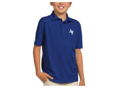 Air Force Falcons Antigua NCAA Youth Pique Xtra-Lite Polo