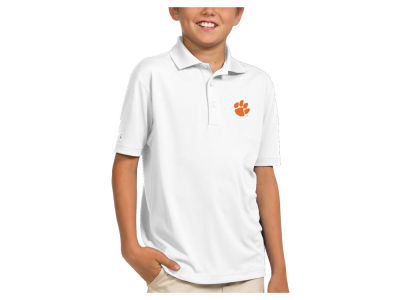Clemson Tigers Antigua NCAA Youth Pique Xtra-Lite Polo