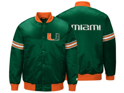 Miami Hurricanes G-III Sports NCAA Men's Draft Pick Varsity Satin Jacket