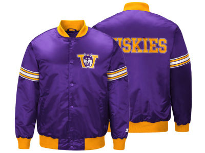Washington Huskies G-III Sports NCAA Men's Draft Pick Varsity Satin Jacket