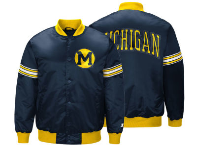 Michigan Wolverines G-III Sports NCAA Men's Draft Pick Varsity Satin Jacket