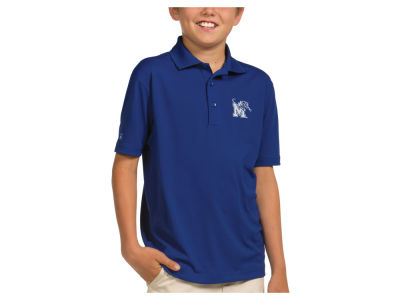 Memphis Tigers Antigua NCAA Youth Pique Xtra-Lite Polo