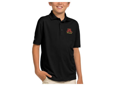Minnesota Golden Gophers Antigua NCAA Youth Pique Xtra-Lite Polo