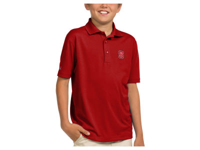 North Carolina State Wolfpack Antigua NCAA Youth Pique Xtra-Lite Polo