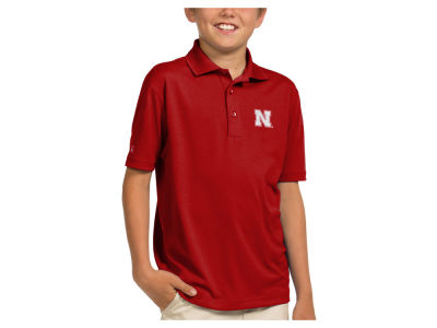 Nebraska Cornhuskers Antigua NCAA Youth Pique Xtra-Lite Polo