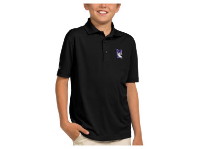 Northwestern Wildcats Antigua NCAA Youth Pique Xtra-Lite Polo