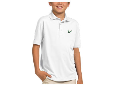South Florida Bulls Antigua NCAA Youth Pique Xtra-Lite Polo