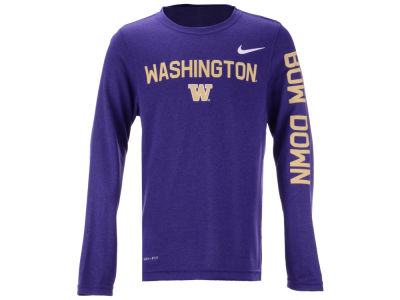 Washington Huskies Nike NCAA Youth Legend Long Sleeve T-Shirt