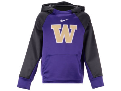 Washington Huskies Nike 2018 NCAA Youth Therma Color Block Hoodie