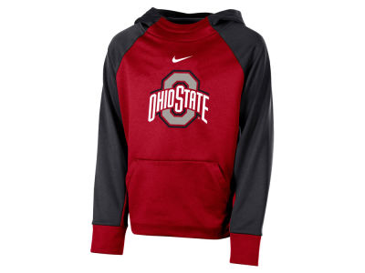 Ohio State Buckeyes Nike 2018 NCAA Youth Therma Color Block Hoodie