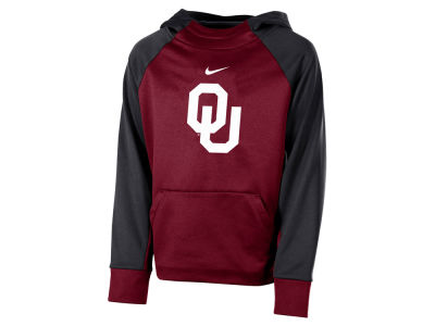 Oklahoma Sooners Nike 2018 NCAA Youth Therma Color Block Hoodie