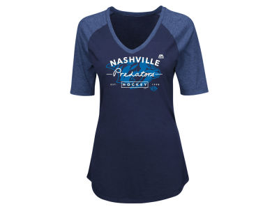 Nashville Predators NHL Women's My Team Raglan T-Shirt