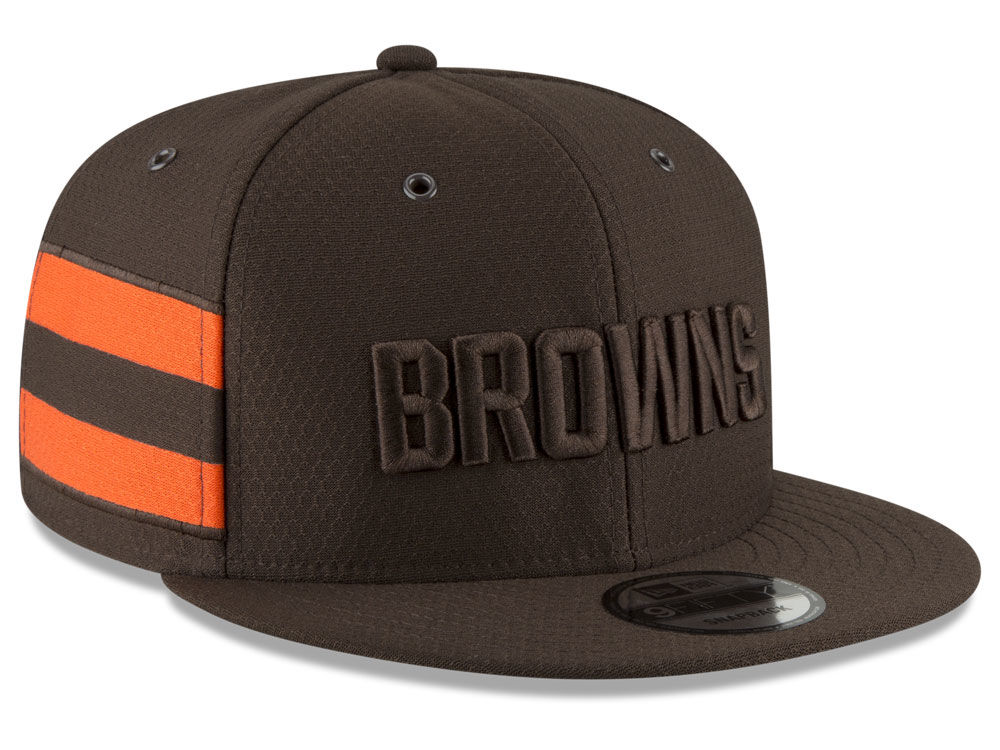 13bcdfdbd Cleveland Browns New Era 2018 Official NFL Color Rush 9FIFTY Snapback Cap