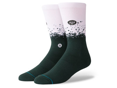New York Jets Stance NFL Fade Crew Socks