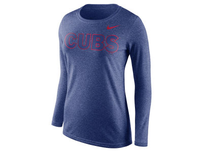 Chicago Cubs Nike MLB Women's Marled Long Sleeve T-Shirt