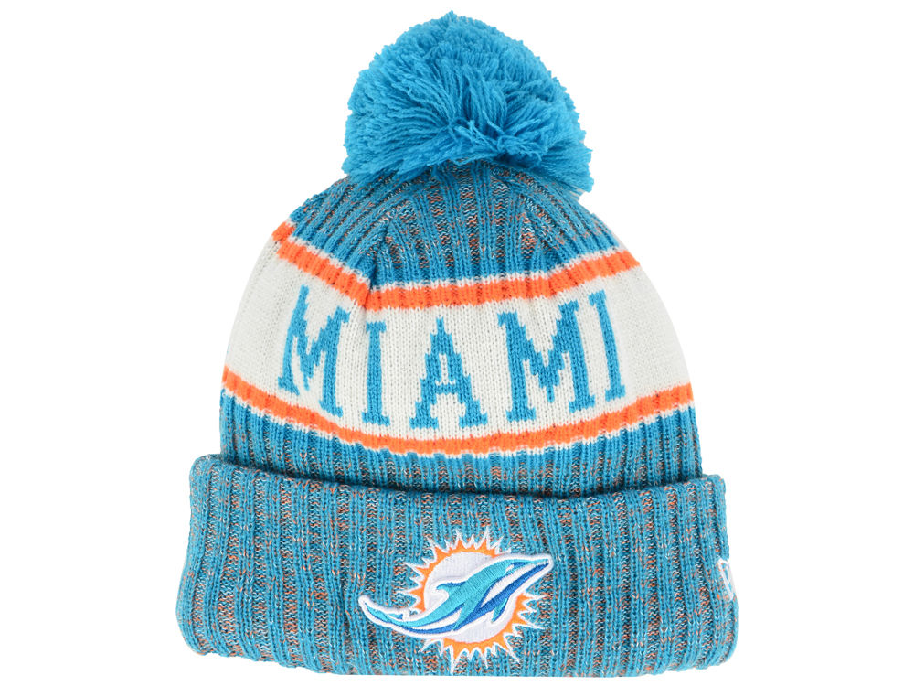 3befce6db25 ... hat with pom e22b6 b7e26  low cost miami dolphins new era 2018 nfl kids  sport knit e00e4 c6f48