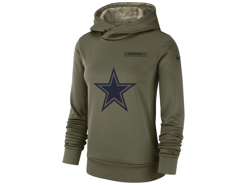 22dab5391 Dallas Cowboys Nike 2018 NFL Women s Salute To Service Therma Hoodie ...