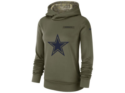 Dallas Cowboys Nike 2018 NFL Women's Salute To Service Therma Hoodie