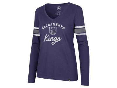 Sacramento Kings '47 NBA Women's Spirit Script Long Sleeve T-Shirt