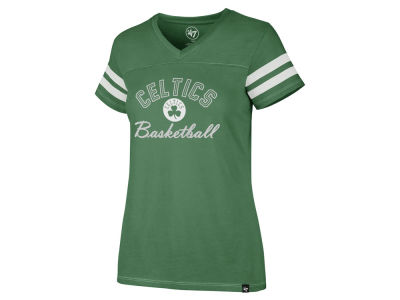 Boston Celtics '47 NBA Women's Metallic Dinger V-Neck T-Shirt